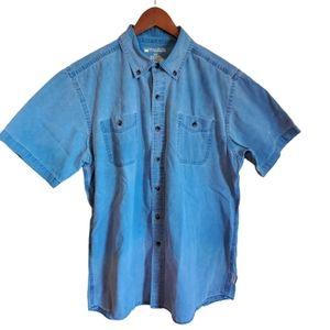 Men's Windriver short sleeve cotton shirt size L